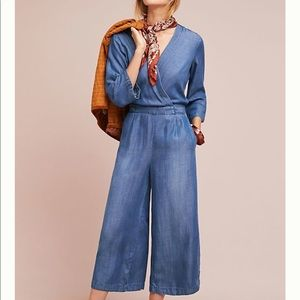 Cloth & Stone from Anthropologie Chambray Jumpsuit